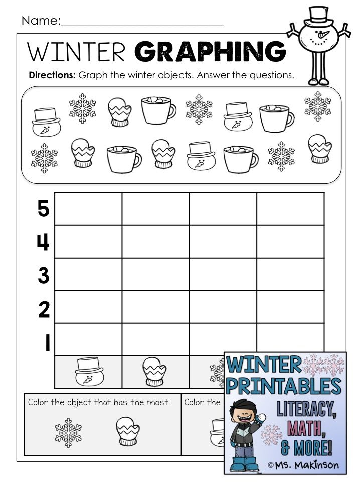 winter printables literacy math science kindergarten pinterest math literacy and. Black Bedroom Furniture Sets. Home Design Ideas