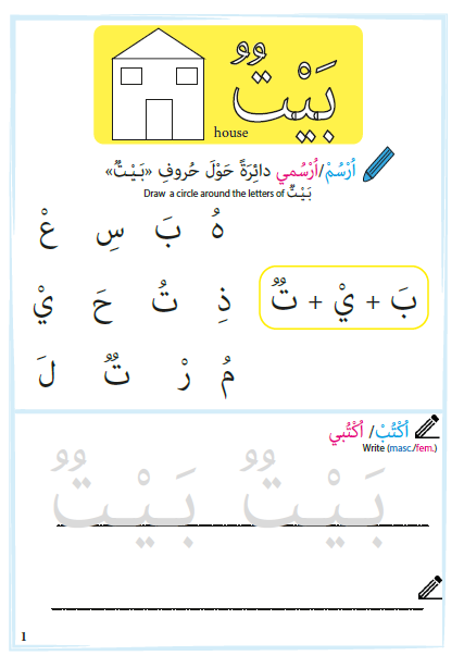 house worksheets words plurals arabic only ar english arabic seeds downloadable. Black Bedroom Furniture Sets. Home Design Ideas