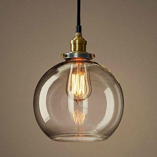 loft copper cap glass ball pendant lighting contemporary pendant