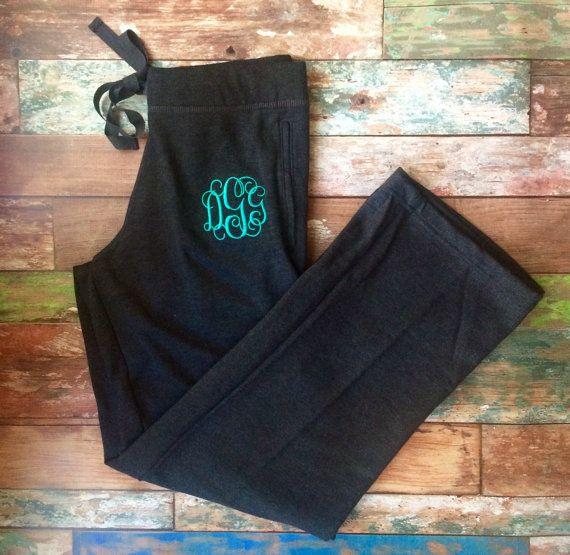 Bridesmaid Sweatpants Workout wear Monogrammed Sweatpants Gym pants Monogram Sweatpants Bridesmaid gifts Monogrammed Gifts