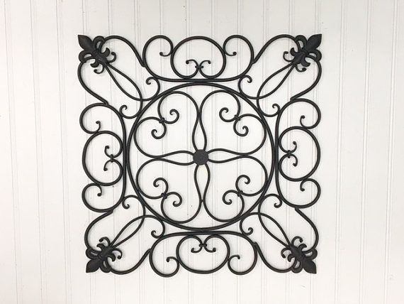 Metal Fleur De Lis Wall Hanging 32 Colors Faux Wrought Iron French Country Sslid0258 Wall Scroll Outdoor Decor Wall Decor Metal Wall Wrought Iron Wall Decor Outdoor Metal Wall Art Iron Wall Decor