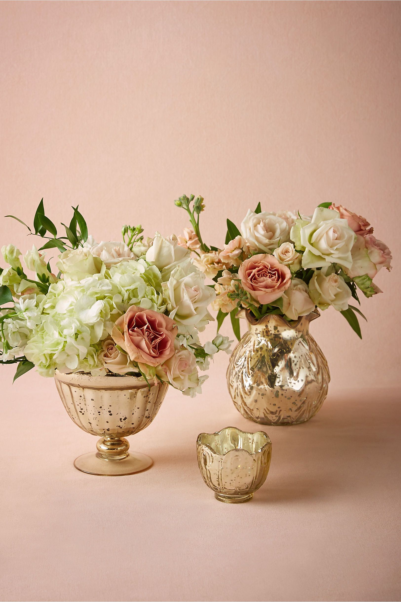 Gilt Mercury Glass Vessel in Décor Centerpieces at BHLDN