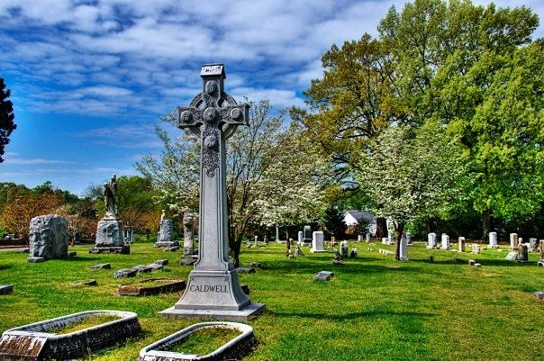 Caldwell Cross in Elmwood Cemetery • Taken by volunteer David McCrosky.  David is a retired Naval officer and worked at the Executive Office of the President prior to his retirement in 2002.