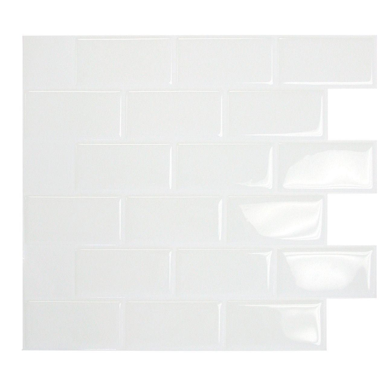 1095 X 97 Peel Stick Subway Tile In White Tile Pinterest