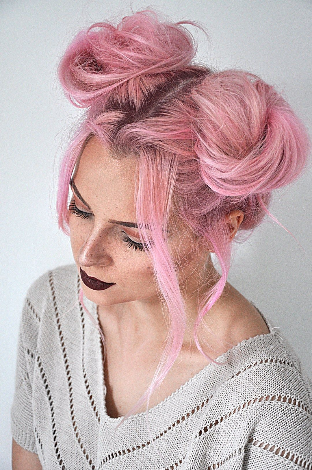 Quick And Easy Space Buns Hairstyle Tutorial Mayalamode Gothic Hairstyles Bun Hairstyles Pigtail Hairstyles