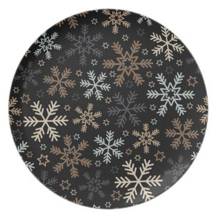 Holiday Plastic Plate-Snowflakes Dinner Plate  sc 1 st  Pinterest & Holiday Plastic Plate-Snowflakes Dinner Plate | Plastic plates