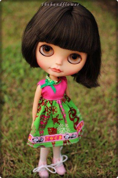 OOAK Custom original Takara Blythe doll Simply por Thehandflower