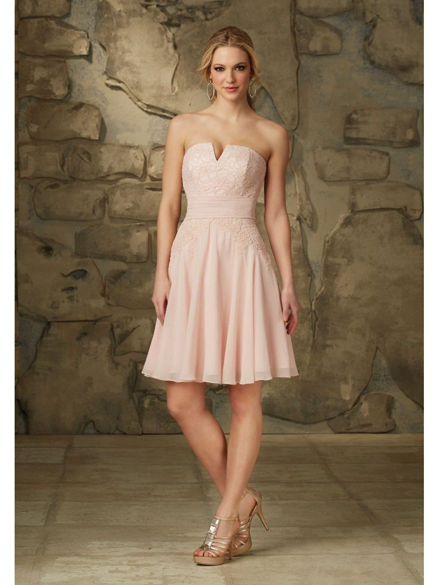 A line strapless short pink chiffon and lace bridesmaid dresses a line strapless short pink chiffon and lace bridesmaid dresses 5602080 ombrellifo Gallery