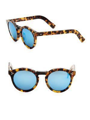 08c55714776 ILLESTEVA Leonard II Tortoise Round Mirrored Sunglasses.  illesteva ...