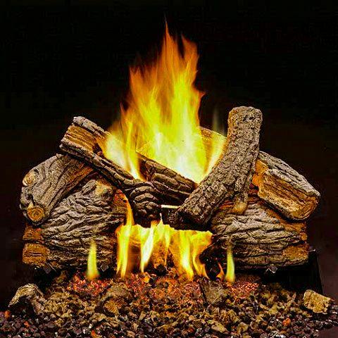 Monessen 24 Massive Oak Vented Fireplace Natural Gas Log Set