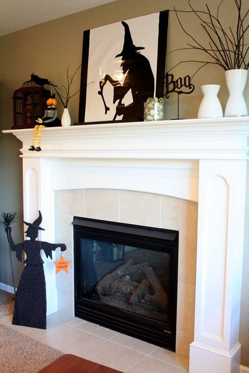 17 Spooky Halloween Mantel Ideas You Need to DIY Next year for