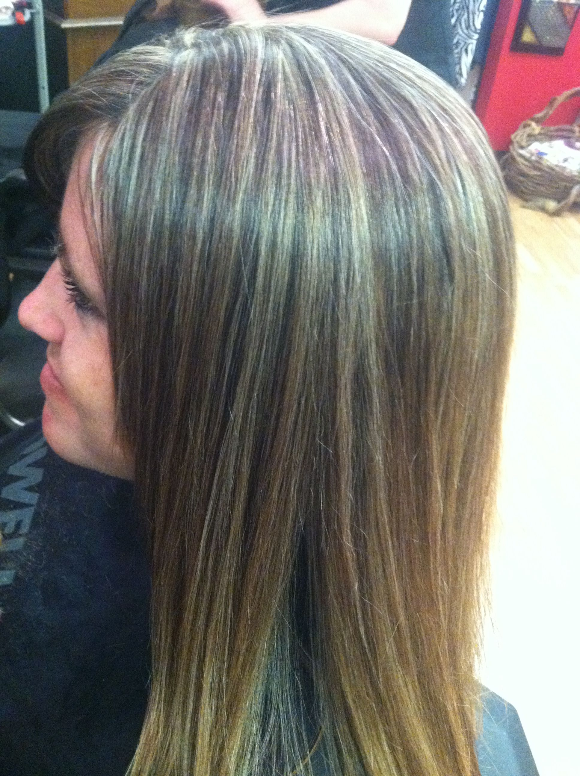 Blended weave to mask gray instead of fully cover so when ...