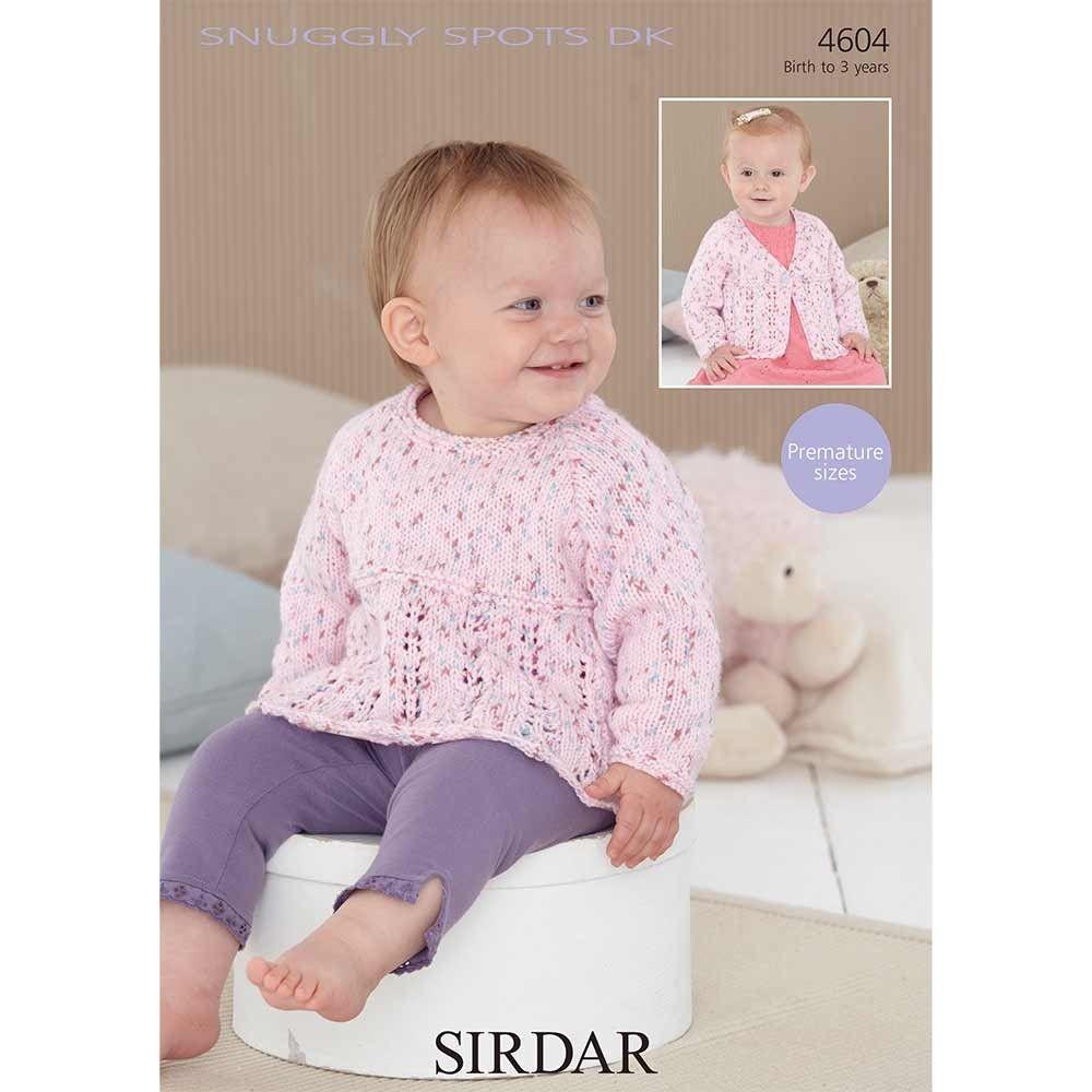 Baby Sweater and Cardigan in Sirdar Snuggly Spots DK | Chomba niña ...