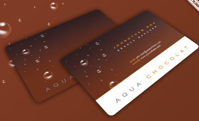 Chocolate Business Card Design Template PSD Free WebGraphic - Windows business card template