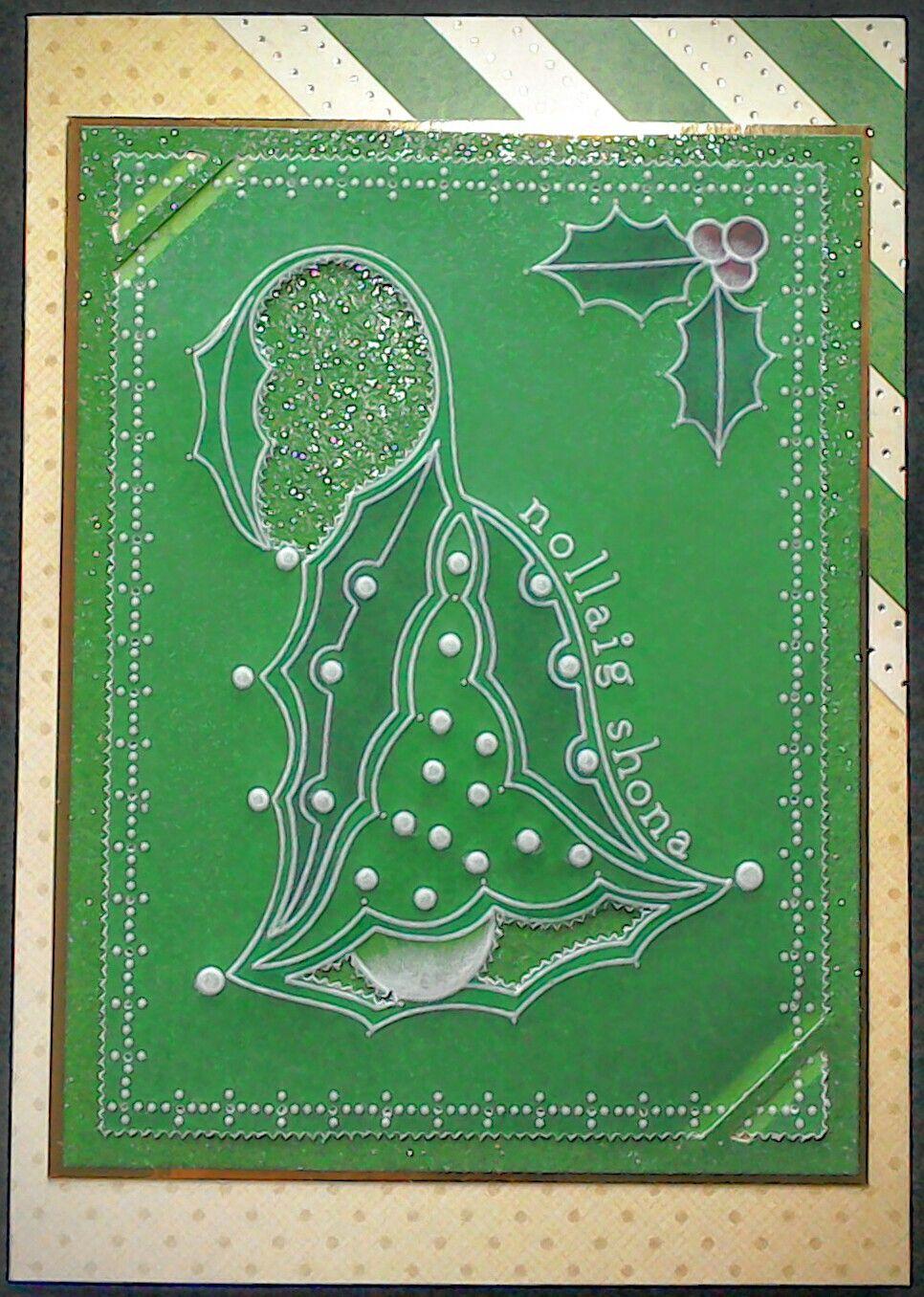 Clarity Groovi Plates Irish Christmas card by Lynne Lee | Clarity ...