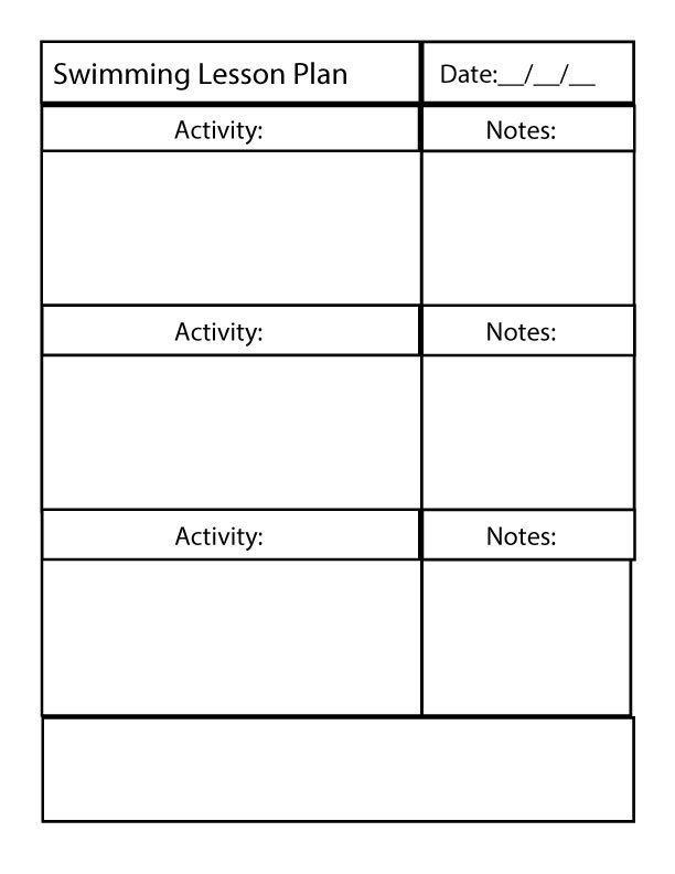 Fun And Effective Instruction Blank Lesson Plan Template Swimming Lesson Plans Lesson Plan Templates