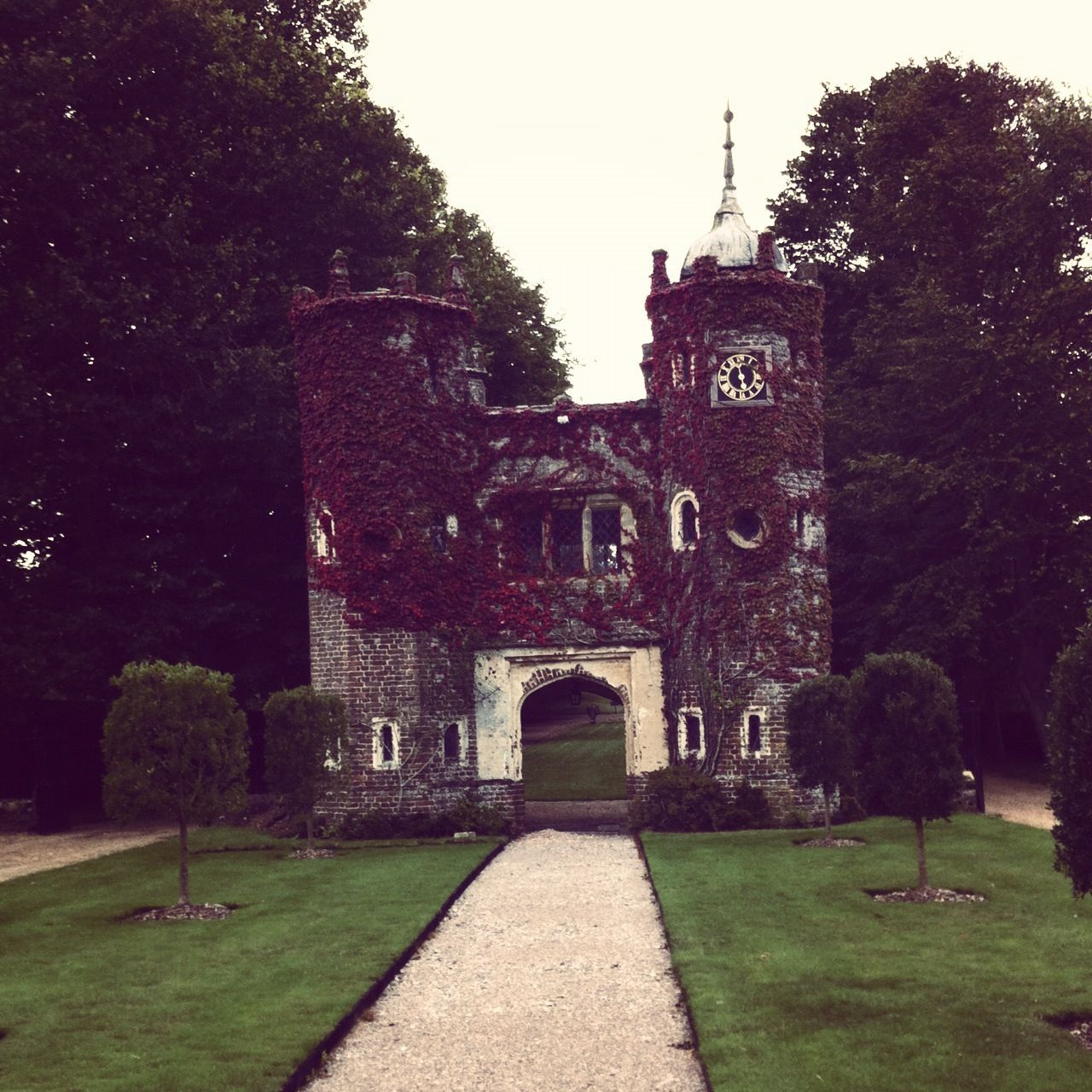 The Gatehouse at Cuckfield Park....said to be haunted by a wicked dame who lived there in the 1800's...