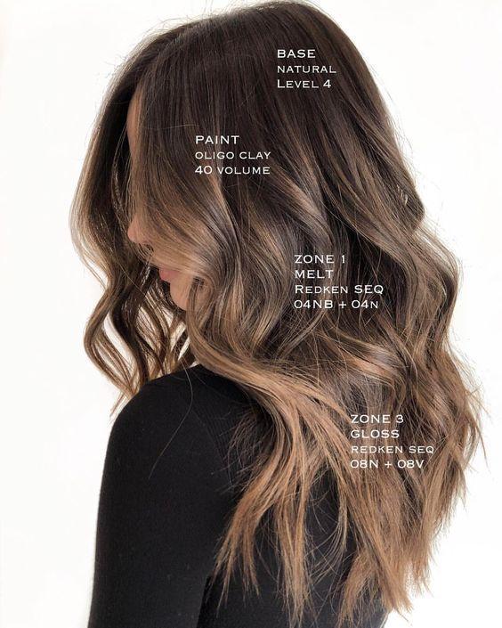 35 idées populaires de couleur de cheveux brune Balayage – #balayage #brune #ch…