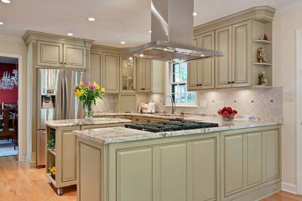 Free Standing Range Hood Kitchen Traditional With
