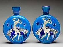 Pair of Primavera Pottery French Vases.