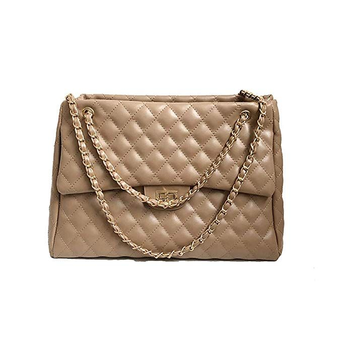f9924a1a43d07 Onzama Women Quilted Crossbody Bag Ladies Classic Purse Twist Lock Shoulder  Handbags Designer Clutch with Chain Strap: Amazon.co.uk: Shoes & Bags