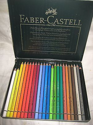 Faber Castell Metal Tin Of 24 Polychromos Art Colored Pencils
