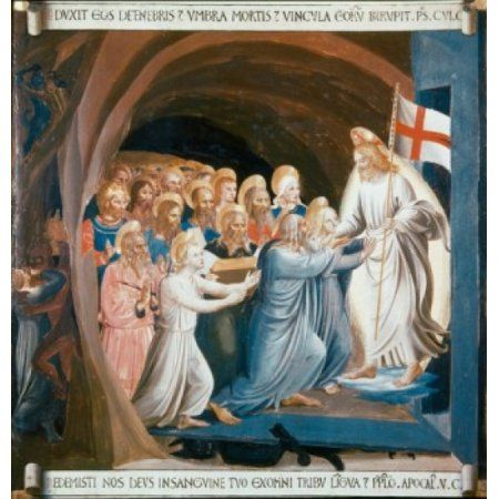Christ in Limbo 1438-1445 Fra Angelico (ca1395-1455 Italian) Muse Di ...