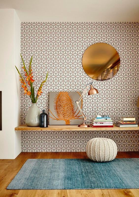 These colors go SO well together Loving this room Glück * Home - tapices modernos