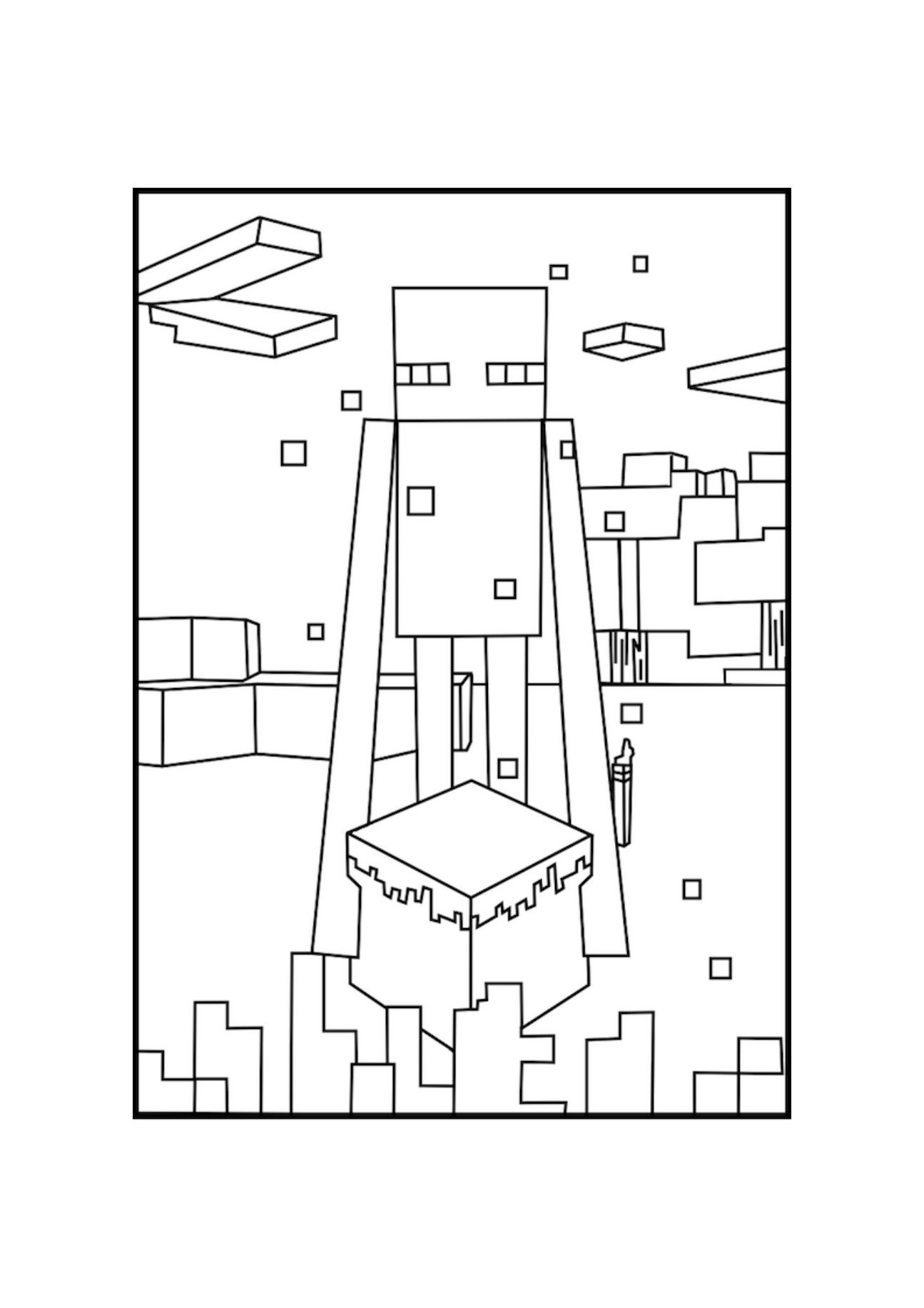 Minecraft Enderman Coloring Page Youngandtae Com Minecraft Coloring Pages Coloring Pages Minecraft