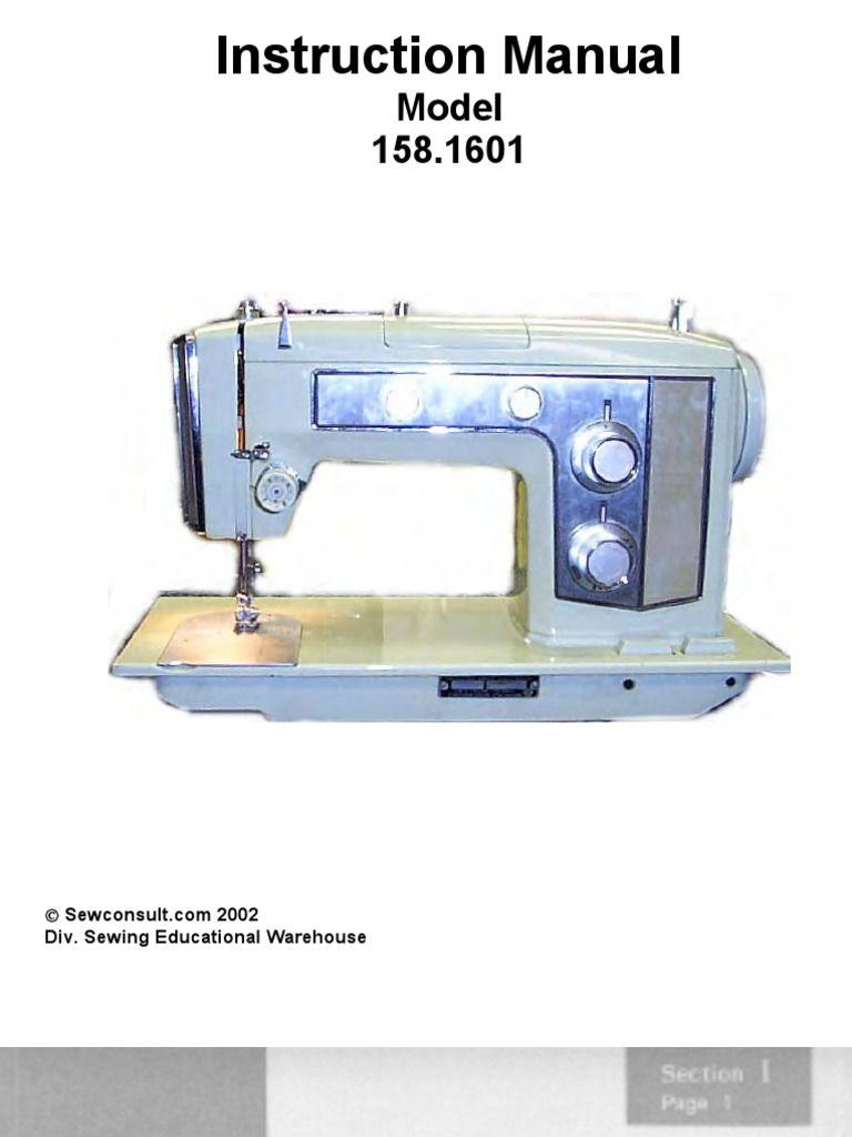 Sears Kenmore 158 Sewing Machine : sears, kenmore, sewing, machine, Manual, Sears-Kenmore, Model, 158-16012, Sewing, Machine, Manuals,, Machine,, Sears