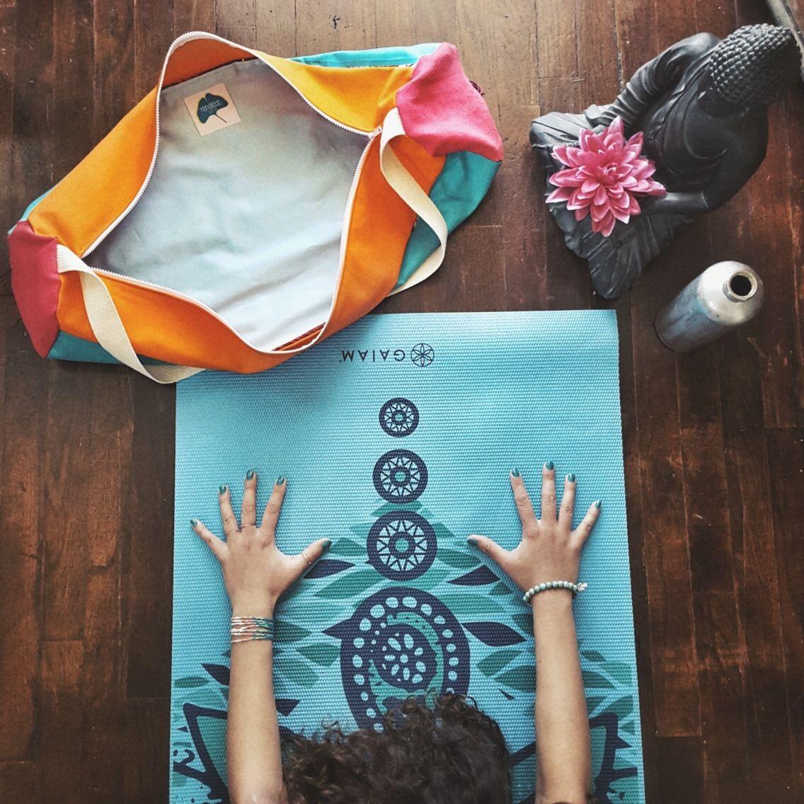 b91cdc670455 Handmade color block yoga mat bag - Yoga Mat Carrier - Manduka Mat - Gaiam  Mat - Prana Mat - Lululemon Mat