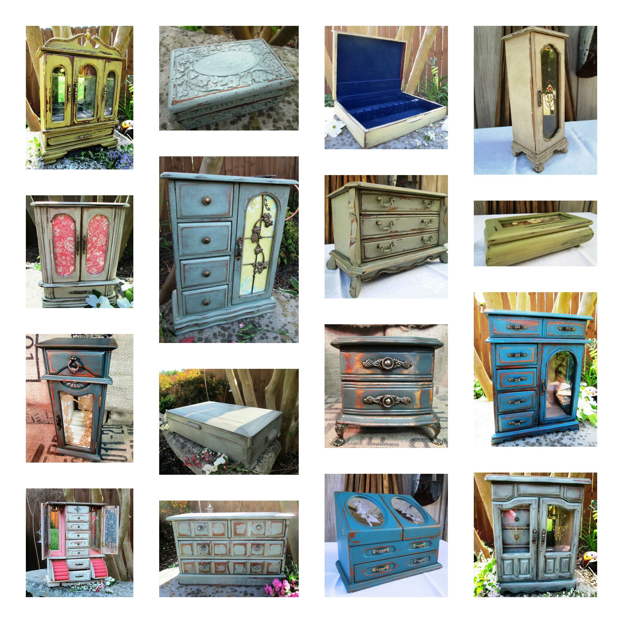 Muebles Box Painted And Distressed Jewelry Boxes Producciones