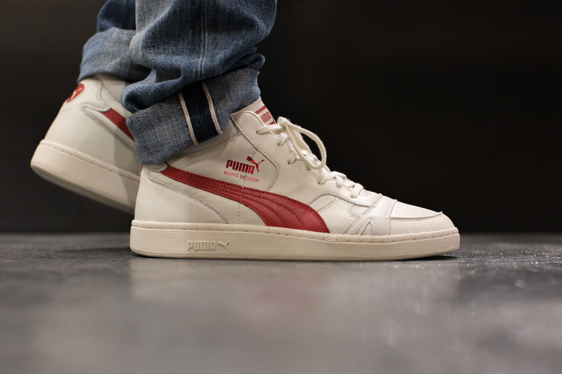 PUMA BECKER LEATHER WHIPSER WHITE available at tint