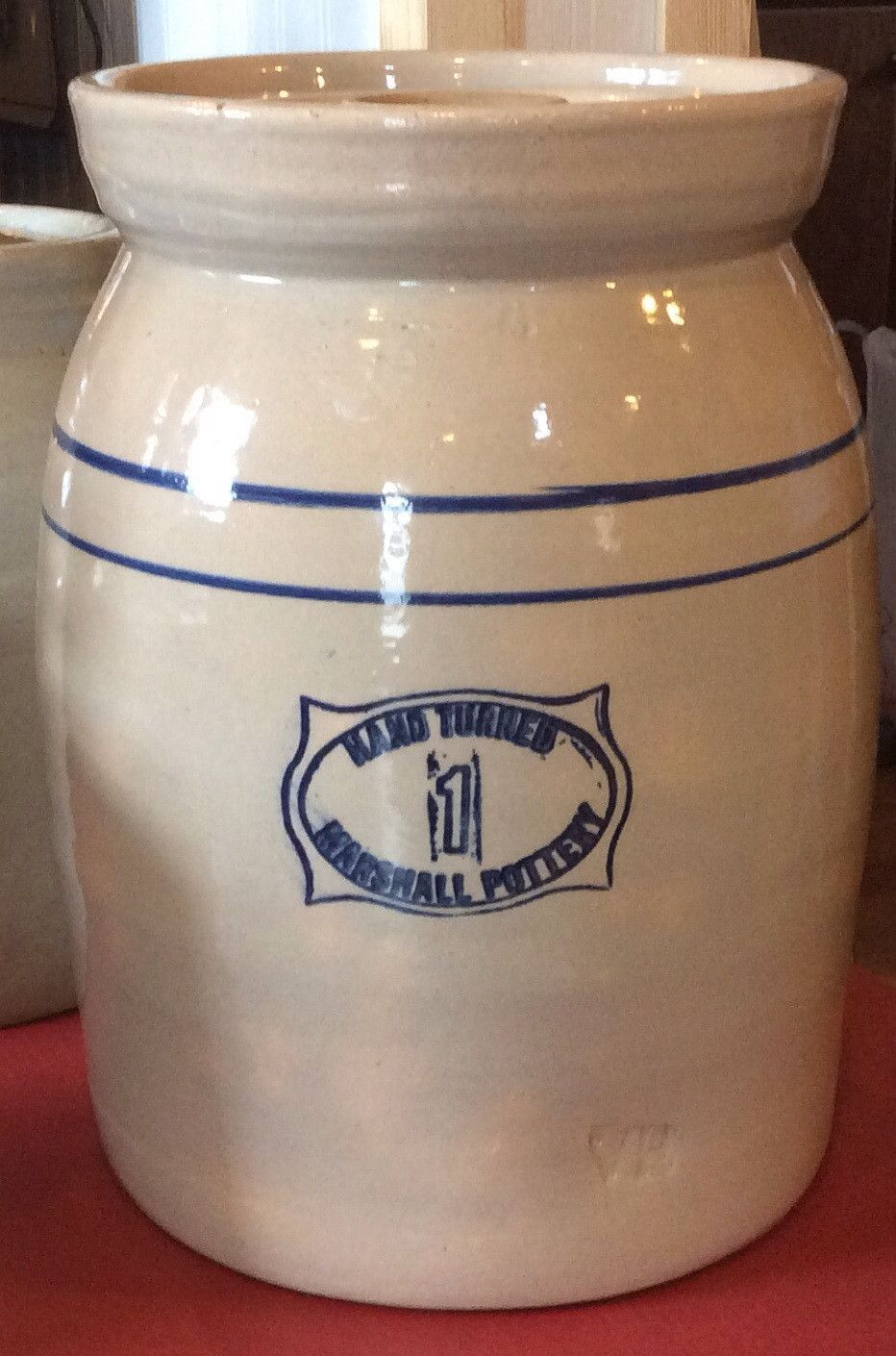 Hand Turned Marshall Pottery 1 Gallon Butter Churn Pottery