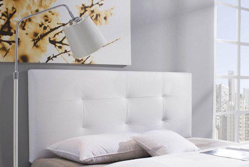 68€ Cabecero Tapizado modelo Carla en negro o blanco #decoración ...