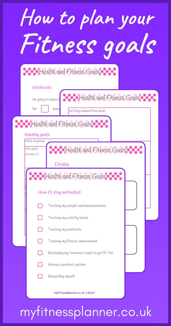 Fitness goals worksheets   Fitness planner, Fitness goals ...