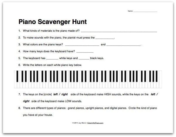 Free Ear Training Worksheet for Beginning Students | PianoTeacherNOLA