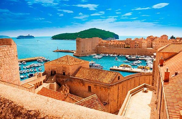 "A bela Dubrovnik é chamada de ""Pérola do Adriático"" (Crédito: Janaina Brentano)"