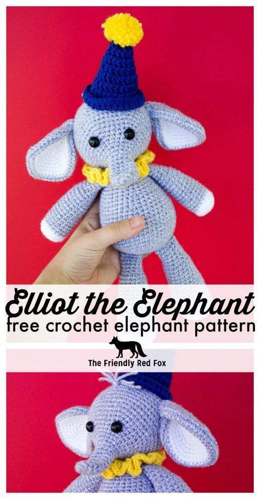 Crochet Elephant Pattern #crochetelephantpattern