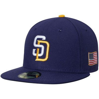 4cc78b607cc San Diego Padres New Era Authentic Collection On-Field 59FIFTY Fitted Hat  with 9 11 Side Patch - Navy