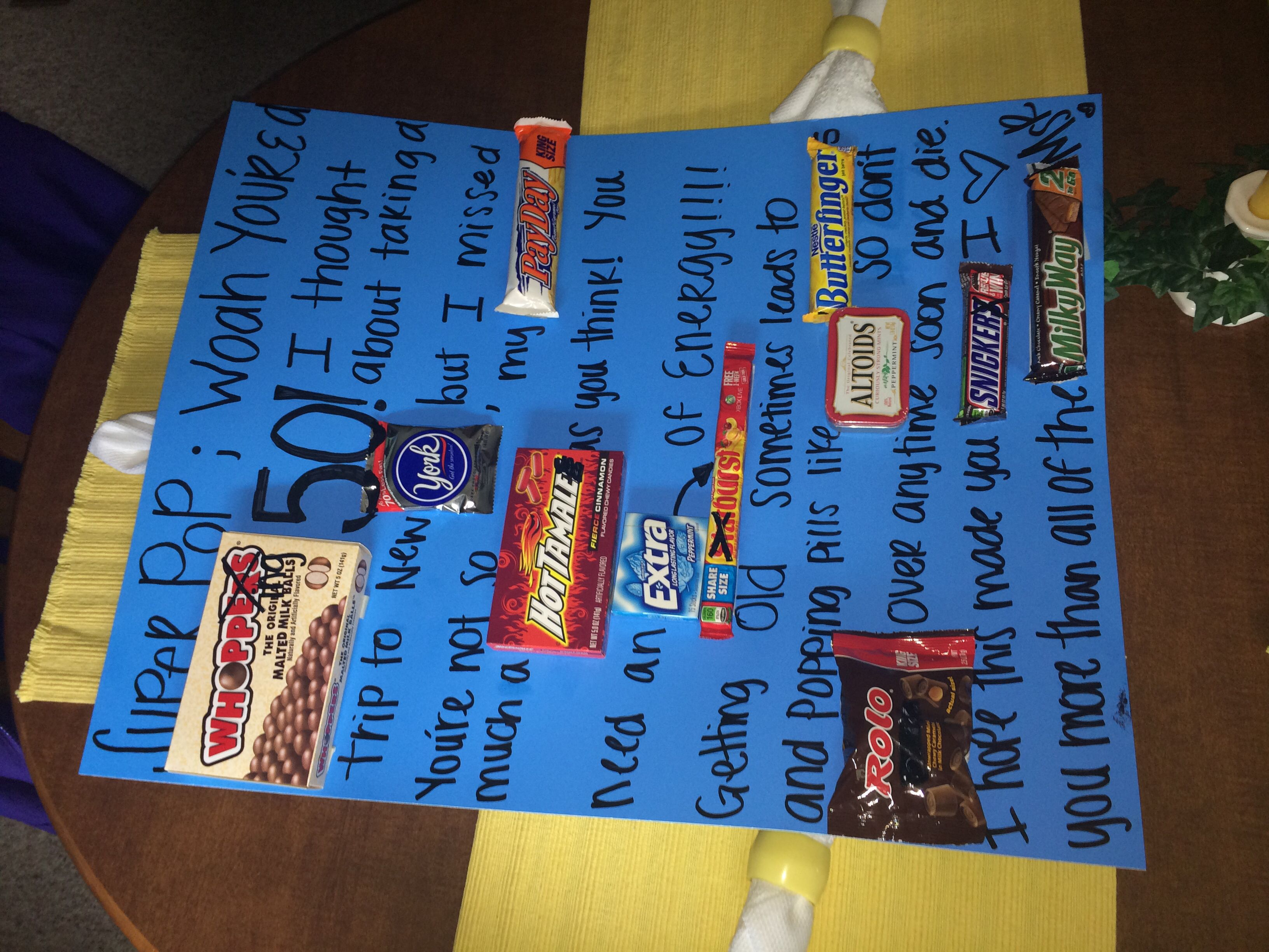 Dads 50 th birthday card funny birthday gifts 50th