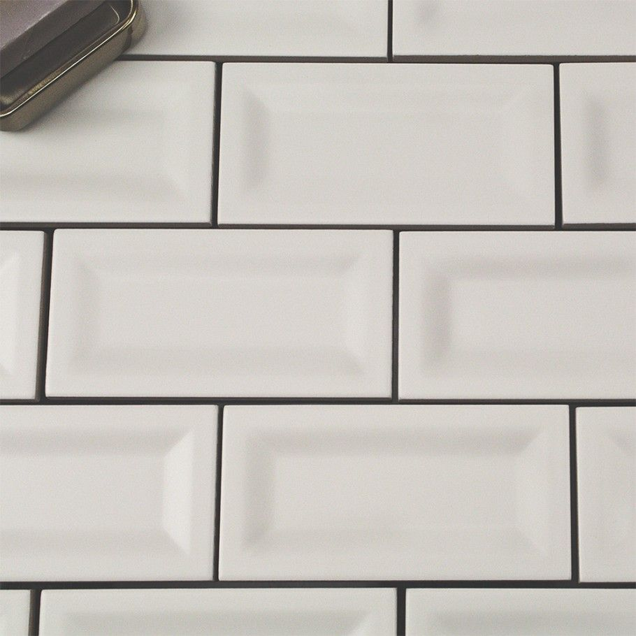 Casa white 3x6 matte inverted beveled ceramic wall tile ceramic basic 3x6 white inverted matte ceramic tile basic collection ceramic tiles dailygadgetfo Image collections
