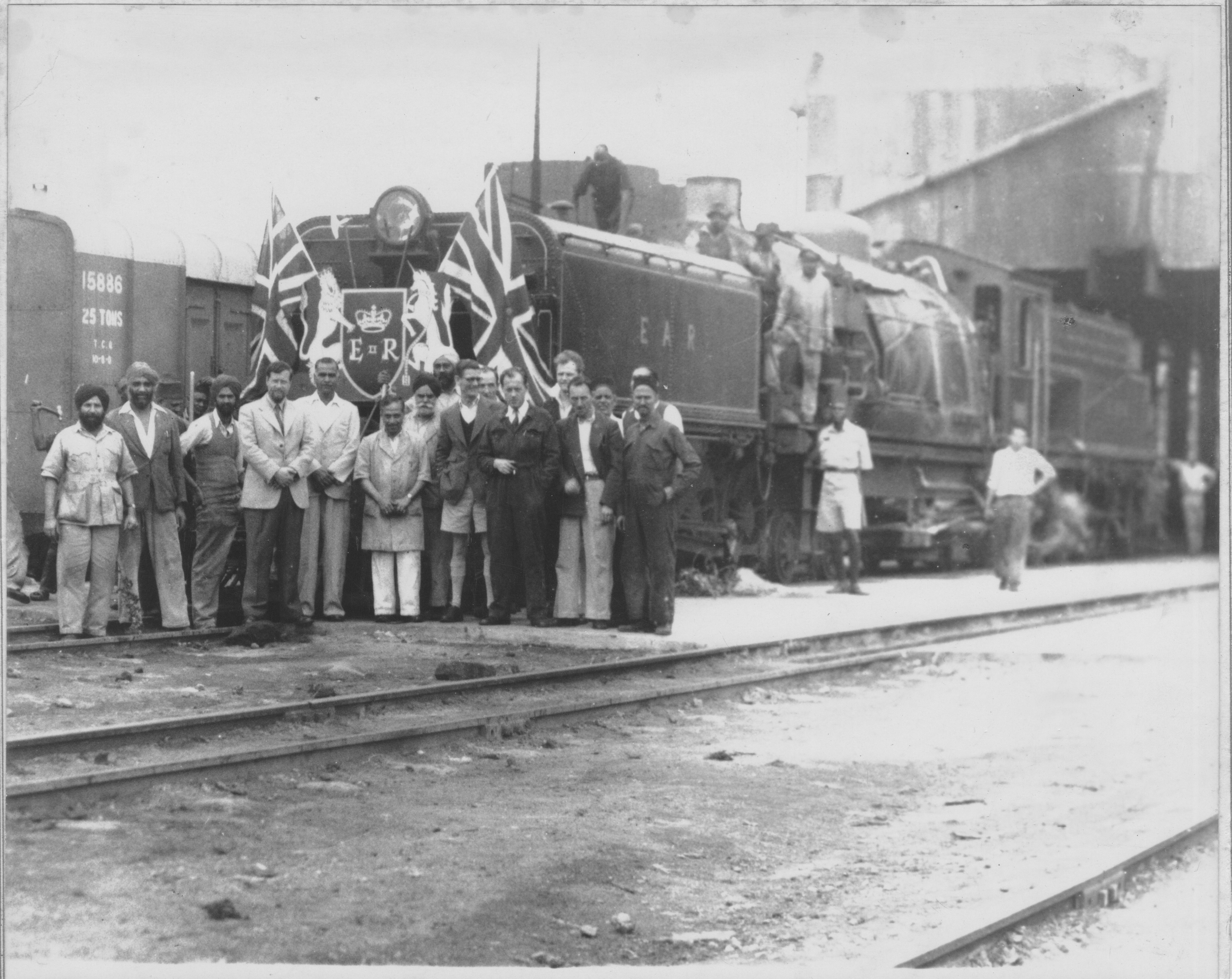 East African Railways, Nairobi, Kenya (My Dad, Neil Rossenrode is standing at the back, 5th in from the right)
