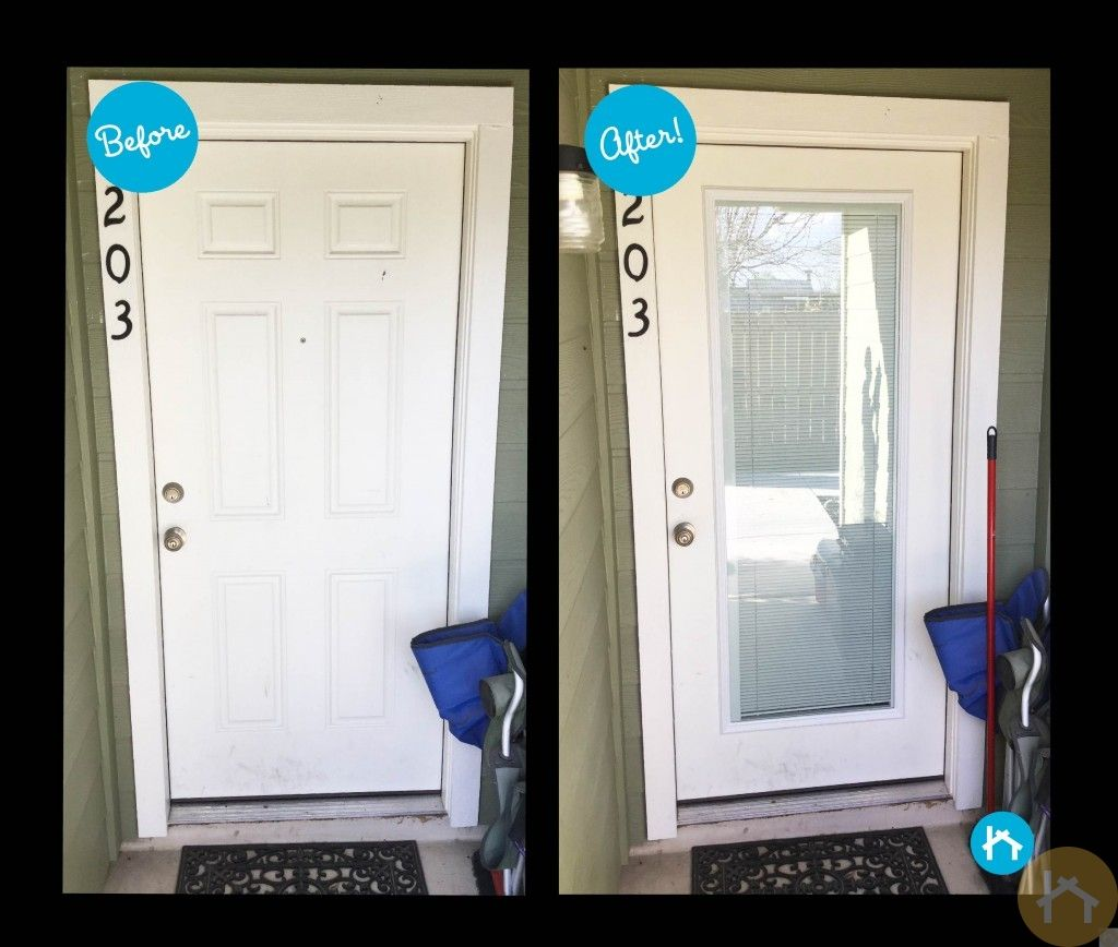 By replacing their solid door with a blindsbetweenglass option