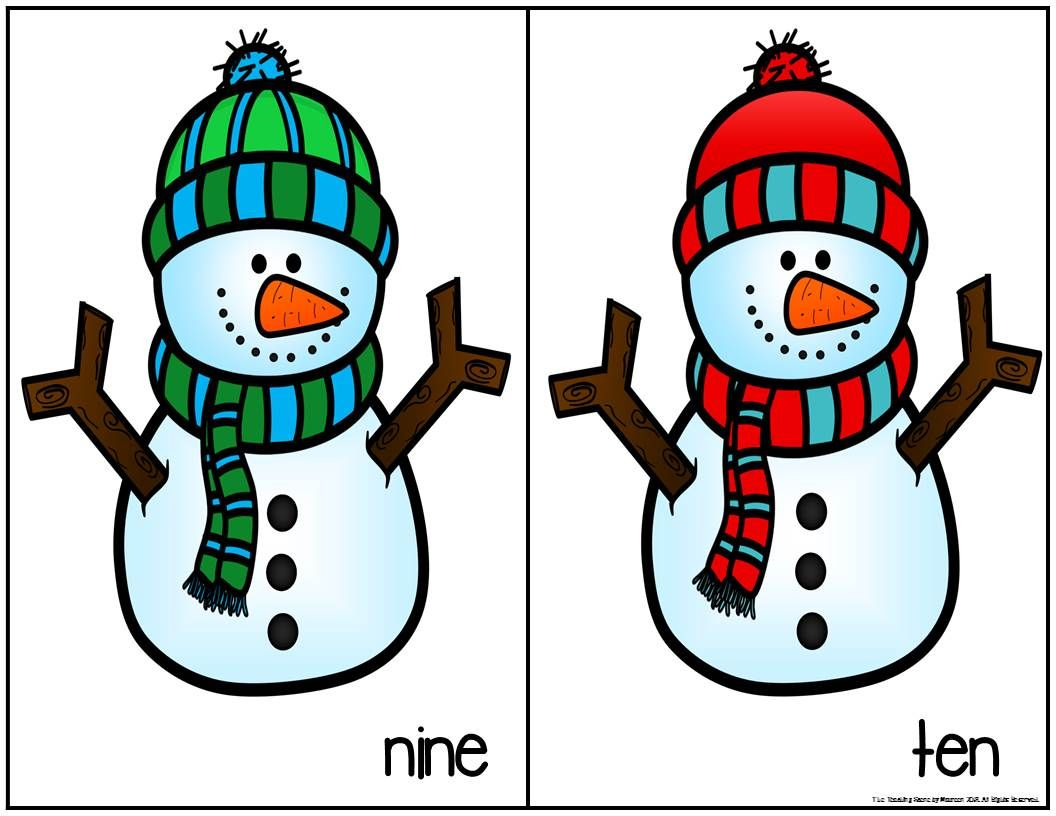 How Many Snowflakes Counting Games For Pre K 1st