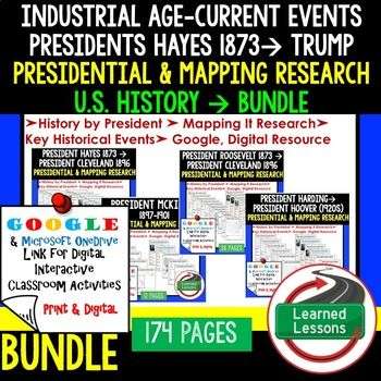 American History Presidential Mapping Research Print Digital - Interactive us history map