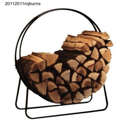 Log Tubular Steel Hoop Rack 40 Inch Wood Firewood Panacea Fire Holder Storage