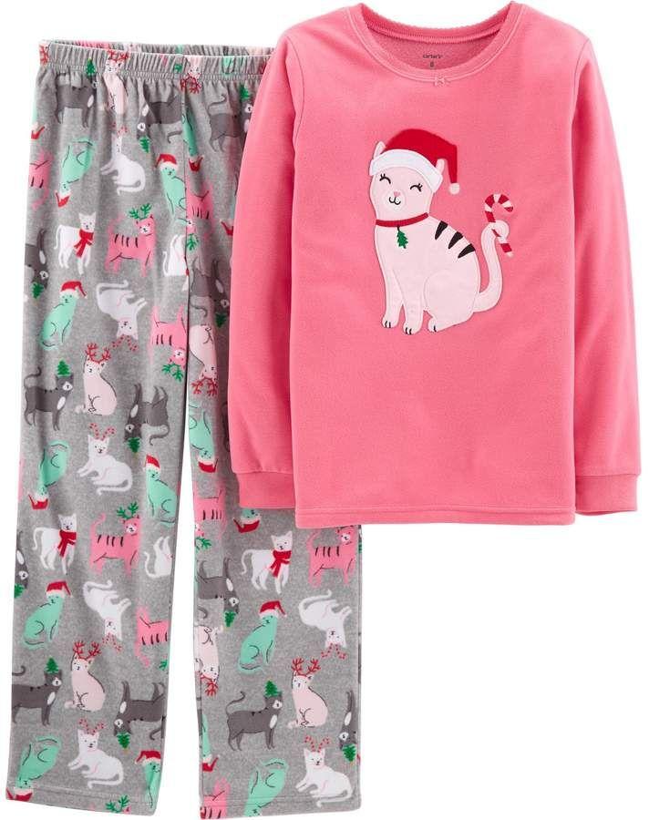 65033f3b568077 Girls 4-14 Carter s Christmas Top   Bottoms Pajama Set