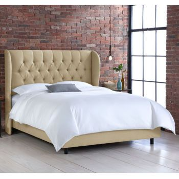 Allegro King Upholstered Wingbak Bed - Assorted Colors Costco $750