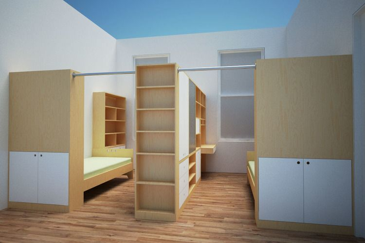 terrific kids bedroom ideas shared rooms | Siblings share a space that is seperated | Bedroom divider ...